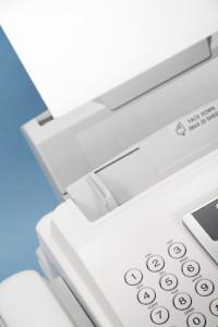 laser fax machine close up